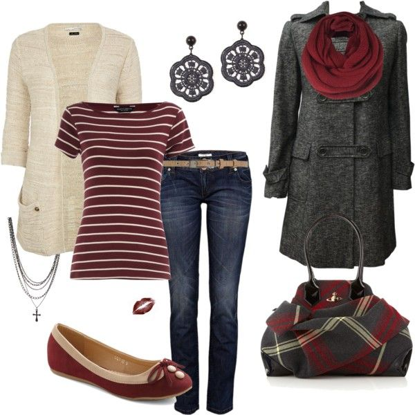 Gray and Red, created by heismygod on Polyvore