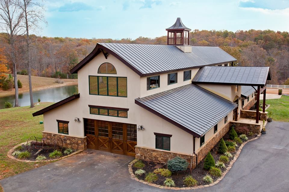 Amazing home for sale in keswick va house pinterest for Metal barn designs