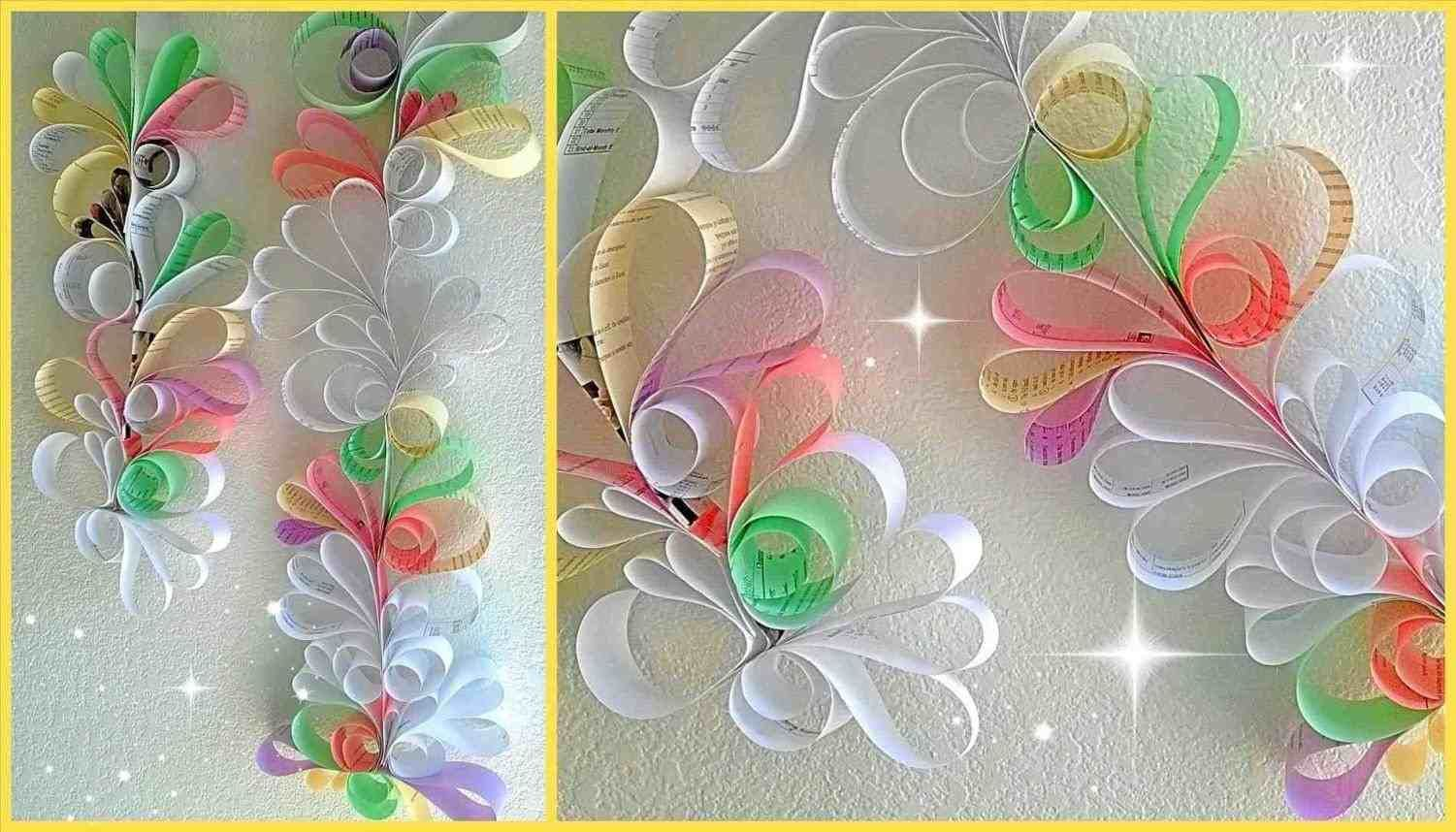Wall Decoration With Colour Paper Paper Wall Decor Diy