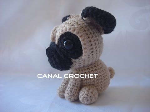 Crochet Adorable Pug Amigurumi Dog Part 1 of 2 DIY Tutorial - YouTube | 360x480