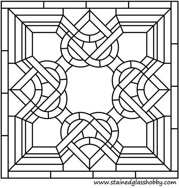 Square stained glass pattern | dibujos | Pinterest | Mandalas, Celta ...