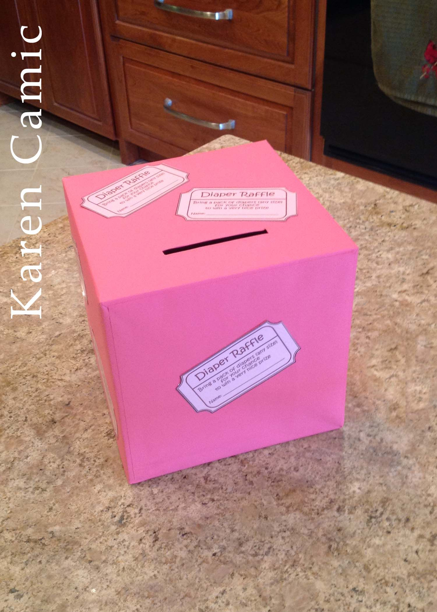 diaper raffle box for pookies shower <3 | baby showers | pinterest