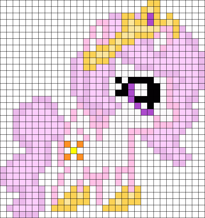 Filly Celestia My Little Pony Perler Bead Pattern / Bead Sprite ...