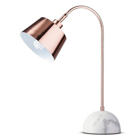 threshold copper task lamp with white marble base - Table Lamps Target