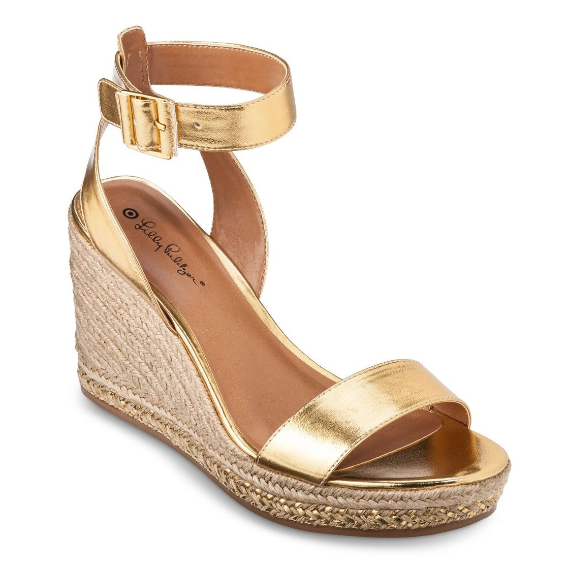 63f28f8bcb4e Lilly Pulitzer for Target Women s Wedge Espadrille Sandals - Gold ...