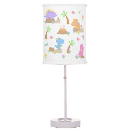 Dinosaur Baby Girl Nursery Table Lamp Zazzle Com Baby Girl Lamps Pink Nursery Decor Girl Nursery