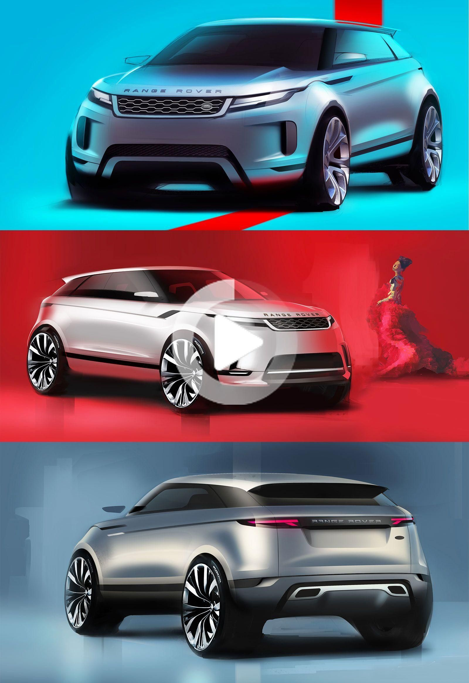 New Range Rover Evoque: Design Sketches  #RangeRoverEvoque #CarDesign #RangeRover #Evoque #CarBodyDesign #Design #DesignSketch #DesignSketches #cars #carideas