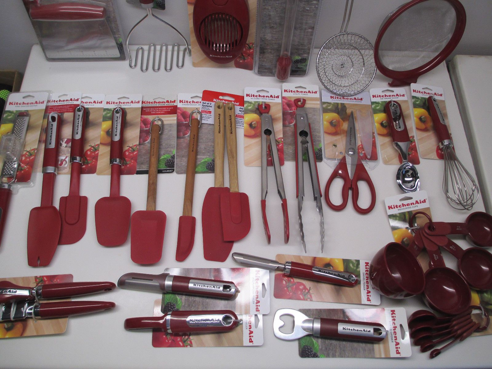Details about kitchenaid empire red cooking utensils