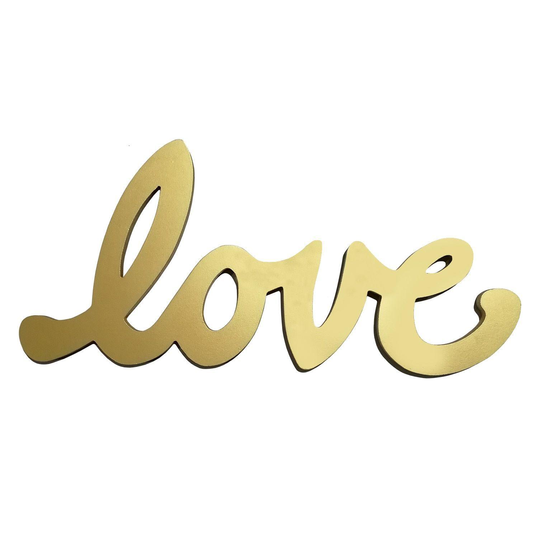 Stratton Home Decor Goldtone Script Love Wall Decor (Gold) (MDF ...