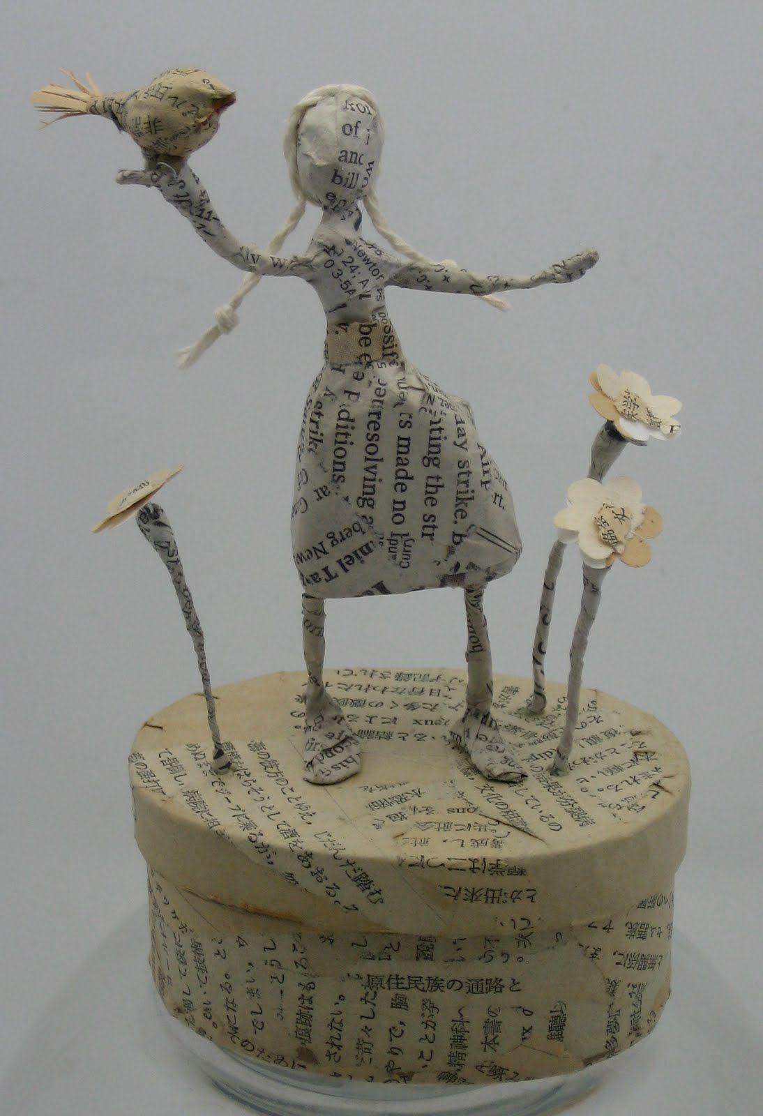 paper m ch wire sculptures atelier pinterest. Black Bedroom Furniture Sets. Home Design Ideas