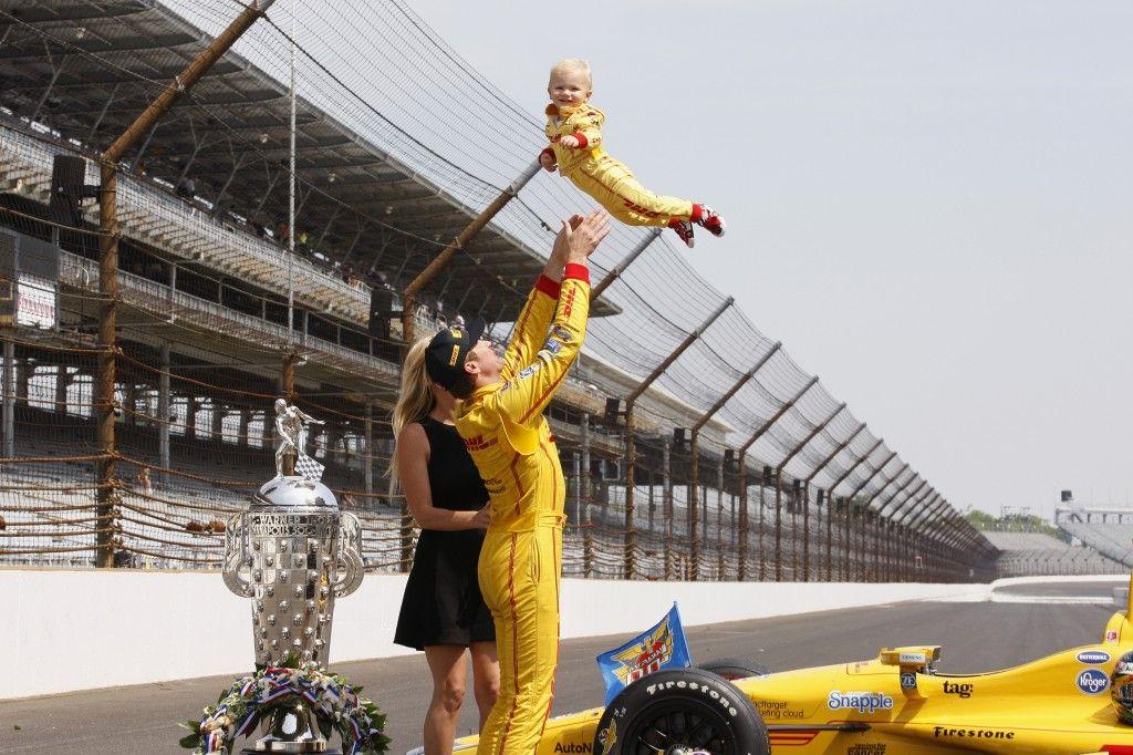Ryden smiles as Indianapolis 500 winner Ryan HunterReay