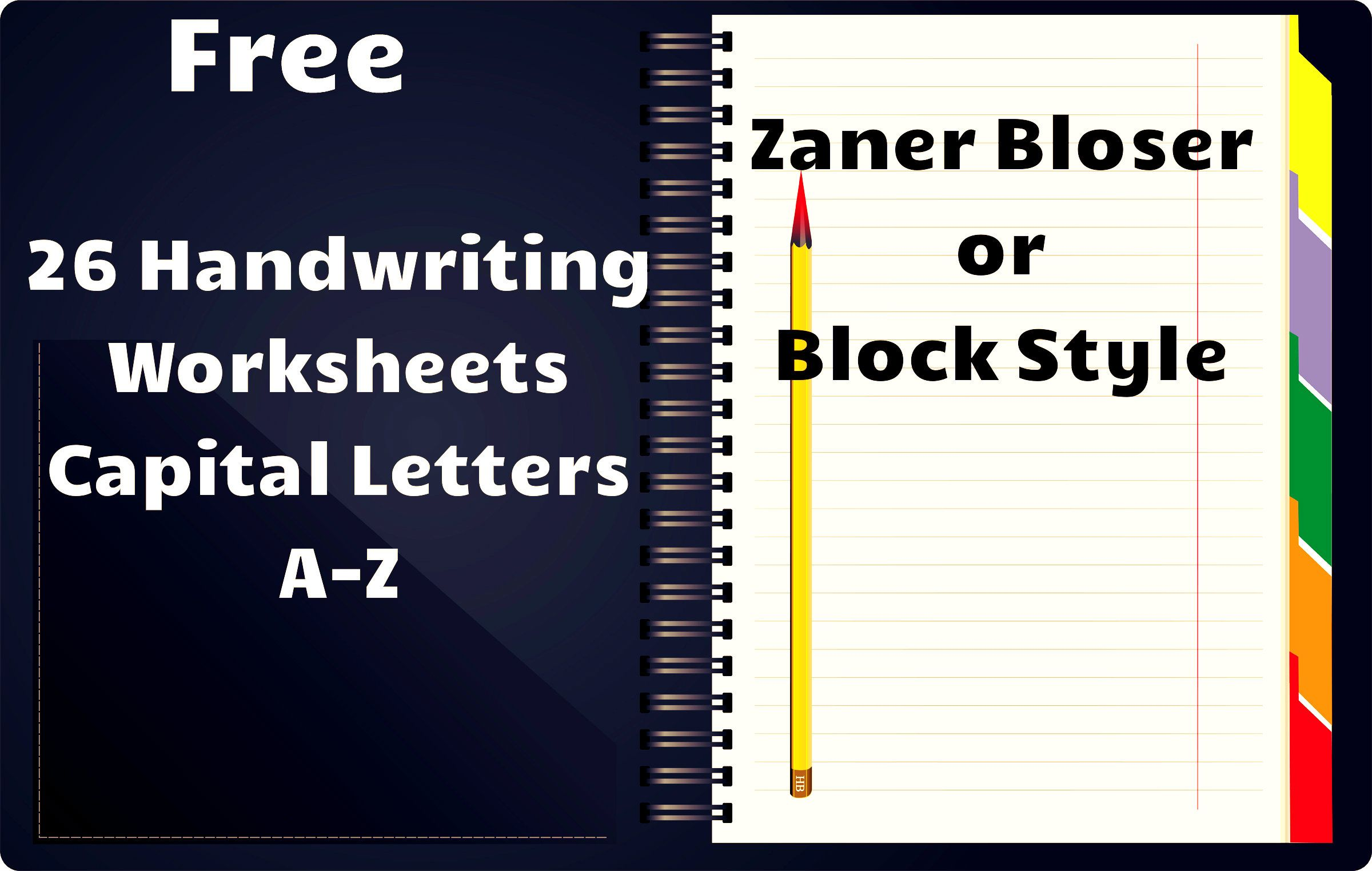 Free Handwriting Worksheets Includes Worksheets For All Capital Letters With Directions To Form