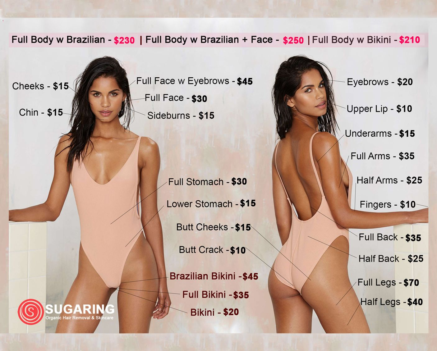 Prices Sugaring Hair Removal Brazilian Hair Removal Sugaring
