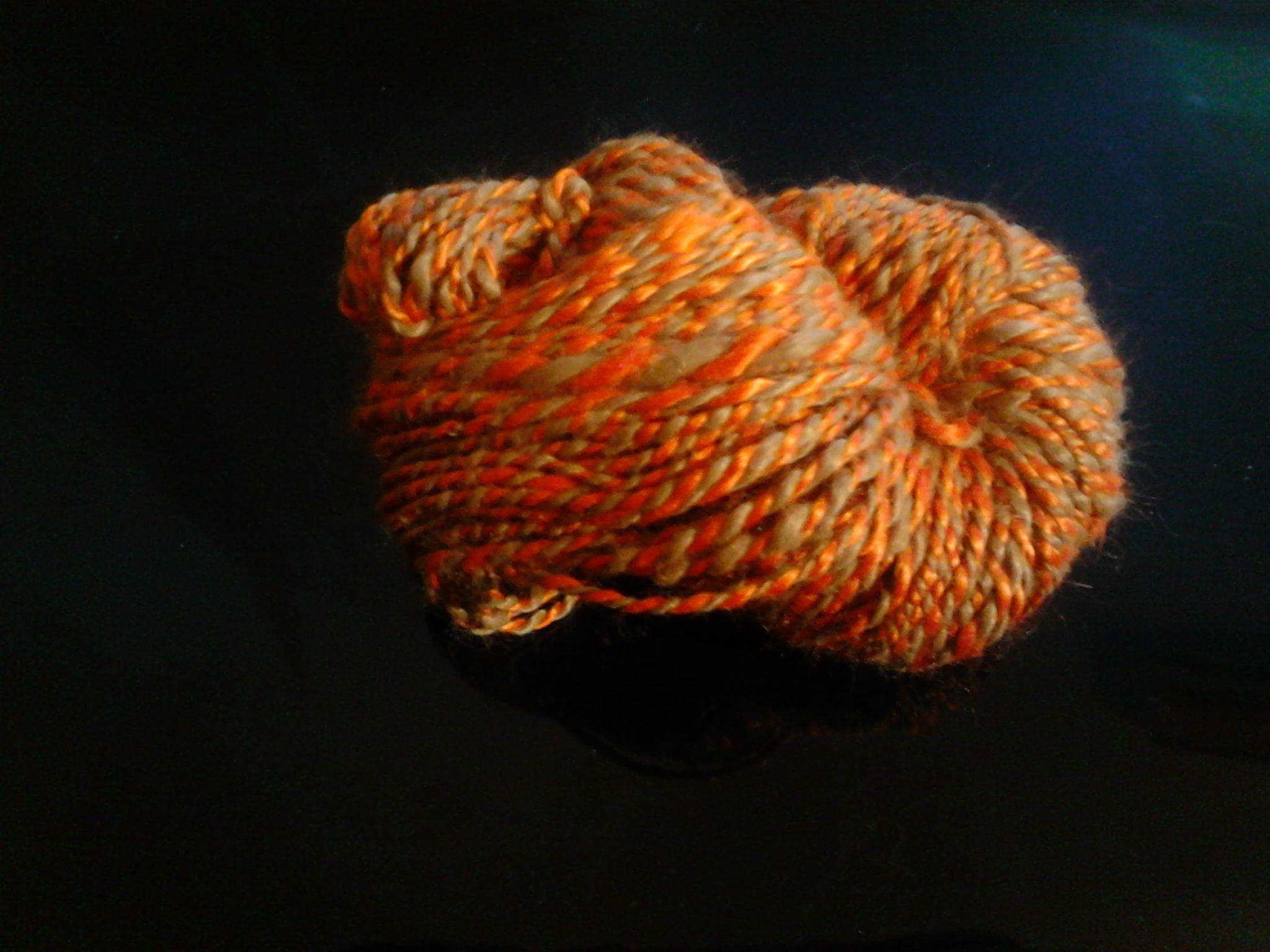 handgesponnene Wolle Baumwolle Viskose