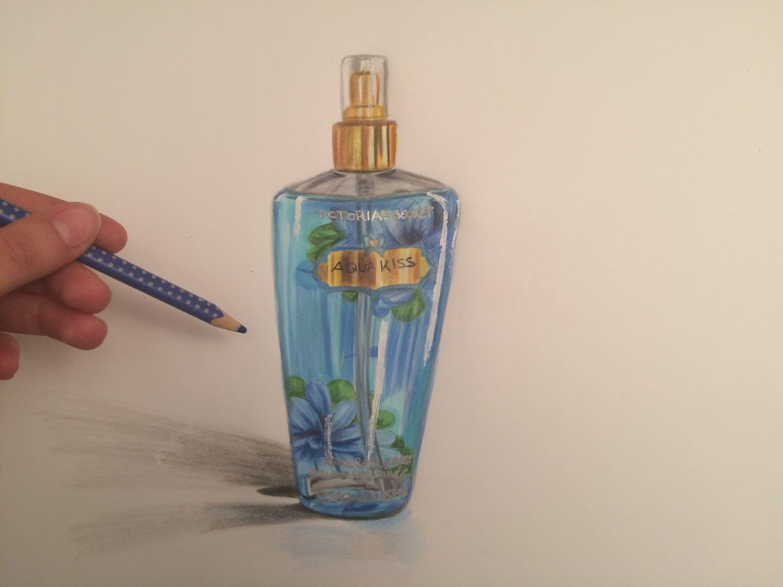Drawing A Realistic Victoria S Secret Perfume Bottle I Sea The Deep Victoria S Secret Perfume Secret Perfumes Perfume Bottles