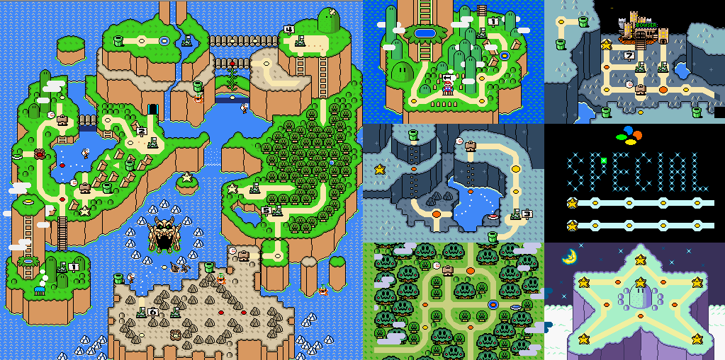 Super mario world map maps pinterest fondos super mario world map gumiabroncs Image collections