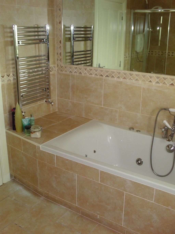 Thomasfarrell Tiling On Tile Bathroom Bath Tiles Built In Bath