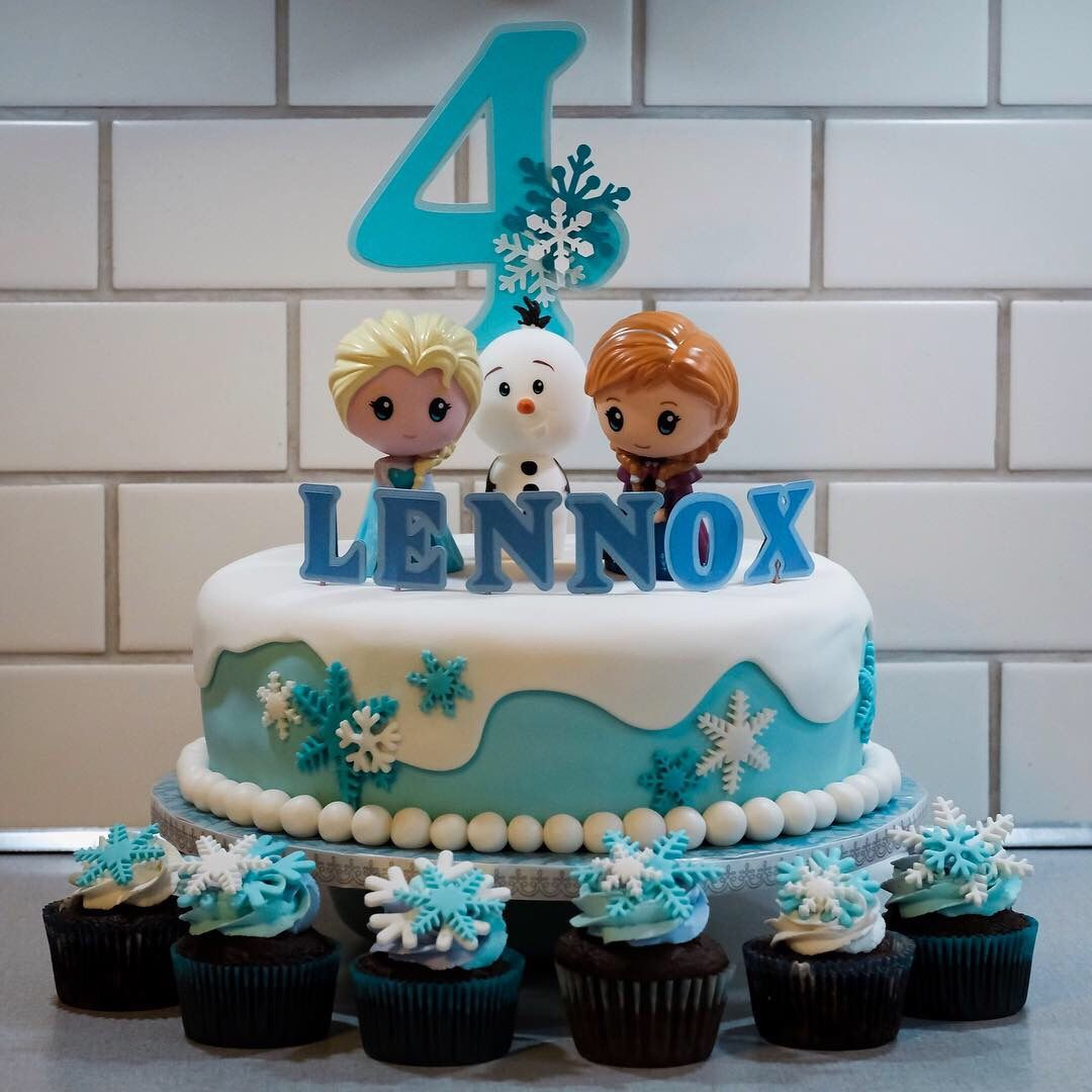Frozen Cake And Cupcakes With Images Cupcake Cakes Frozen