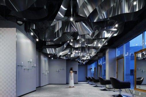 the coolest beauty salon décor Oświetlenie wewnętrzne- inspiracje