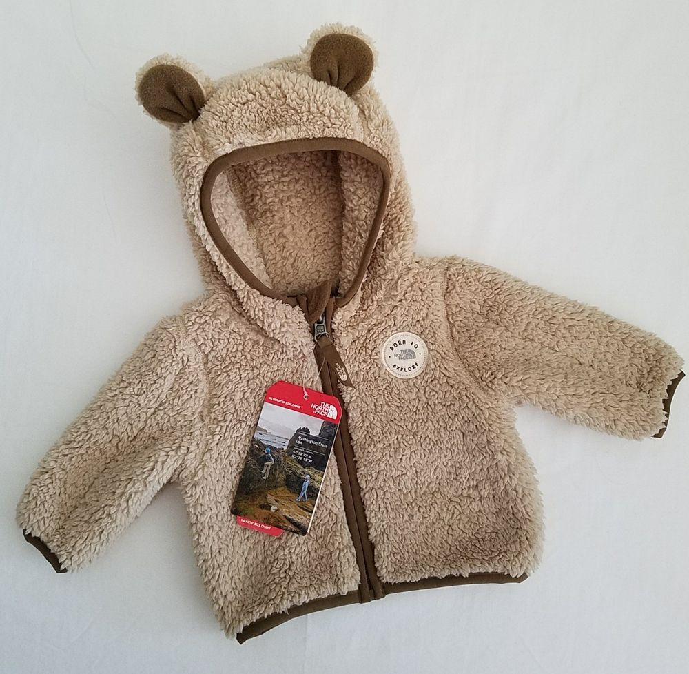 The North Face Plushee Bear Hoodie 0 3 Months Khaki Tan Brown Jacket Coat New Bear Hoodie Brown Jacket Baby Jacket [ 978 x 1000 Pixel ]