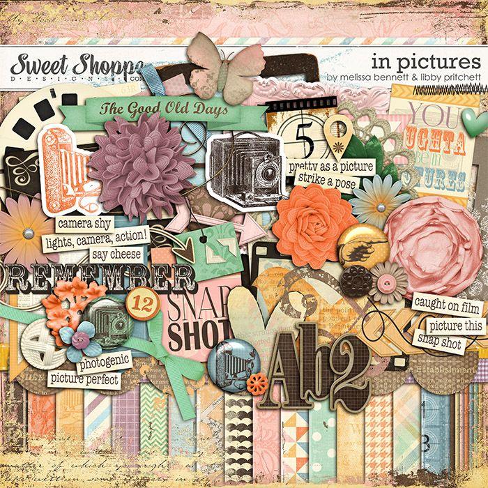 Digital Scrapbook Kit, In Pictures by Libby Pritchett & Melissa Bennett