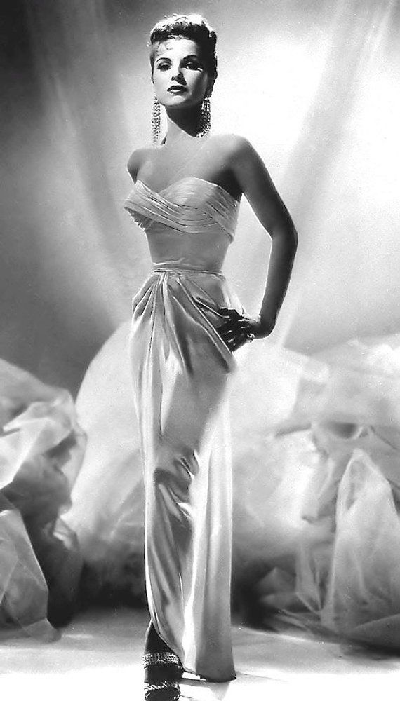 1940's Era Actress Debra Paget-Black and White-Multiple Sizes-[730-110] Silk Sexy Classic Sensual Hollywood Glamour #classicactresses