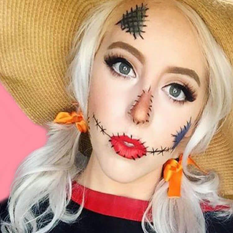 15 Creepy and Freaky VooDoo Doll Halloween Makeup Ideas ...