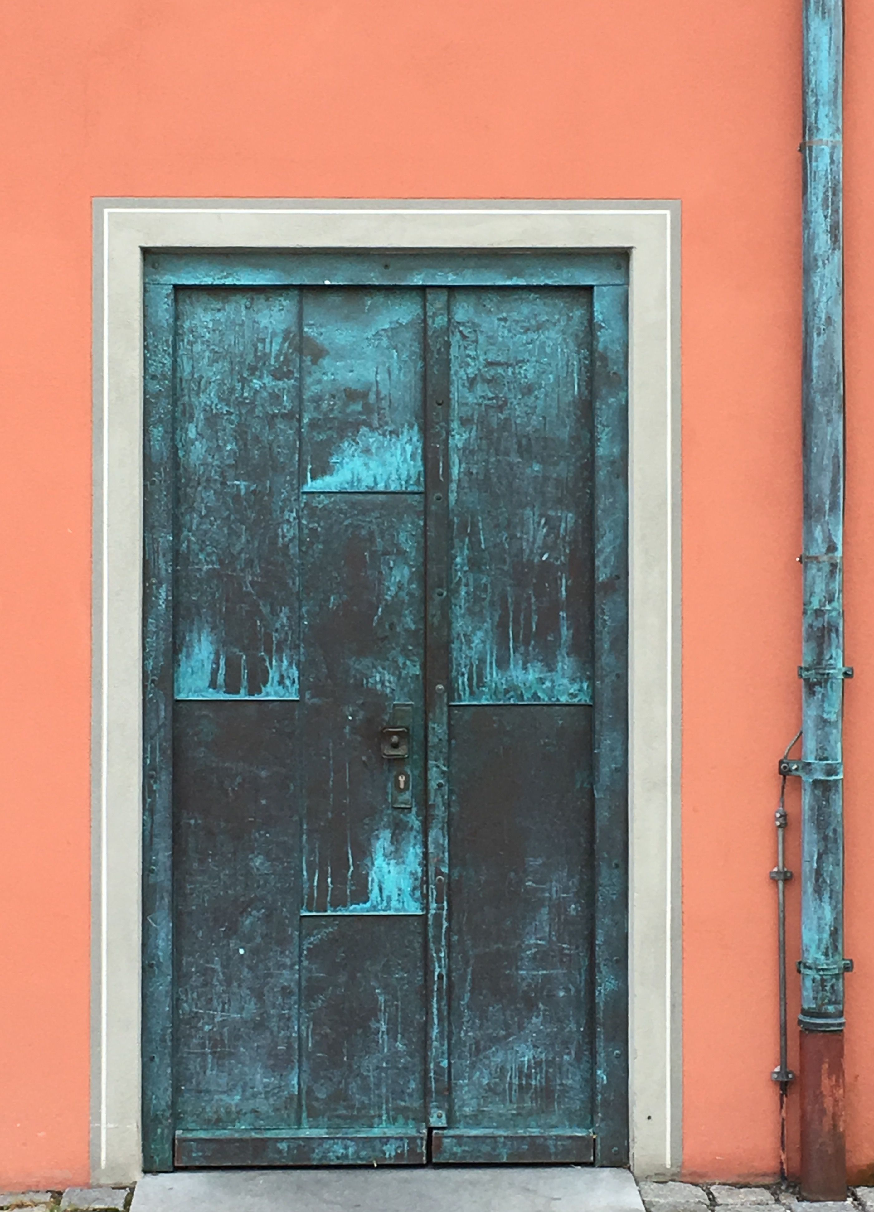 Metal door in Füssen, Germany