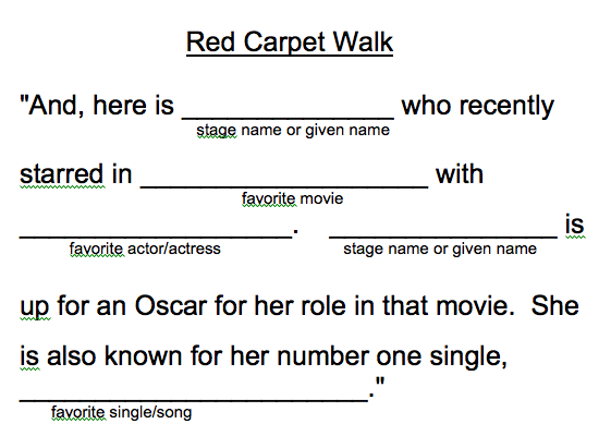 Red Carpet Movie Release Welcome Script
