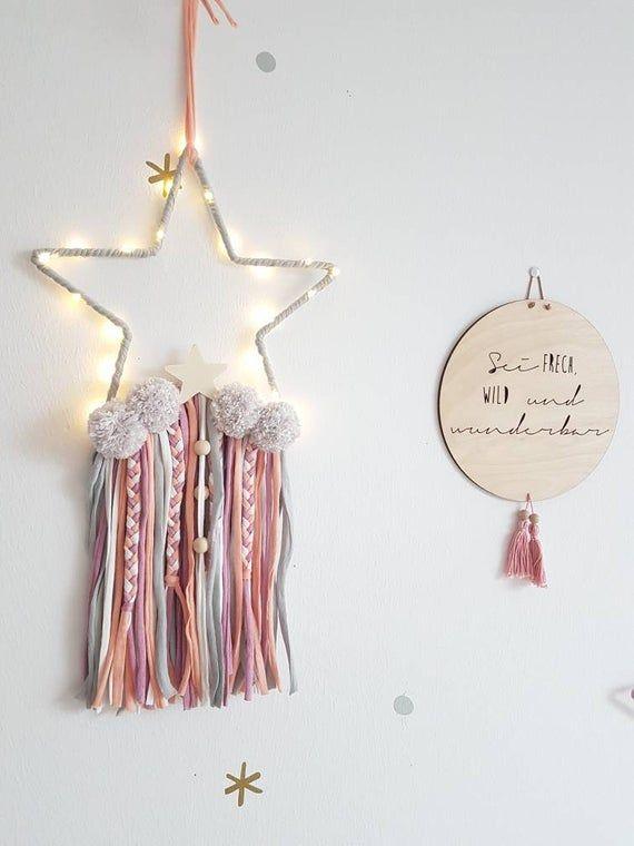 Photo of Wallhanging Dreamcatcher Star Star Light Nursery Personalized Baptism Birth Night Light Gifts Baby Babyshower Deko baby Room