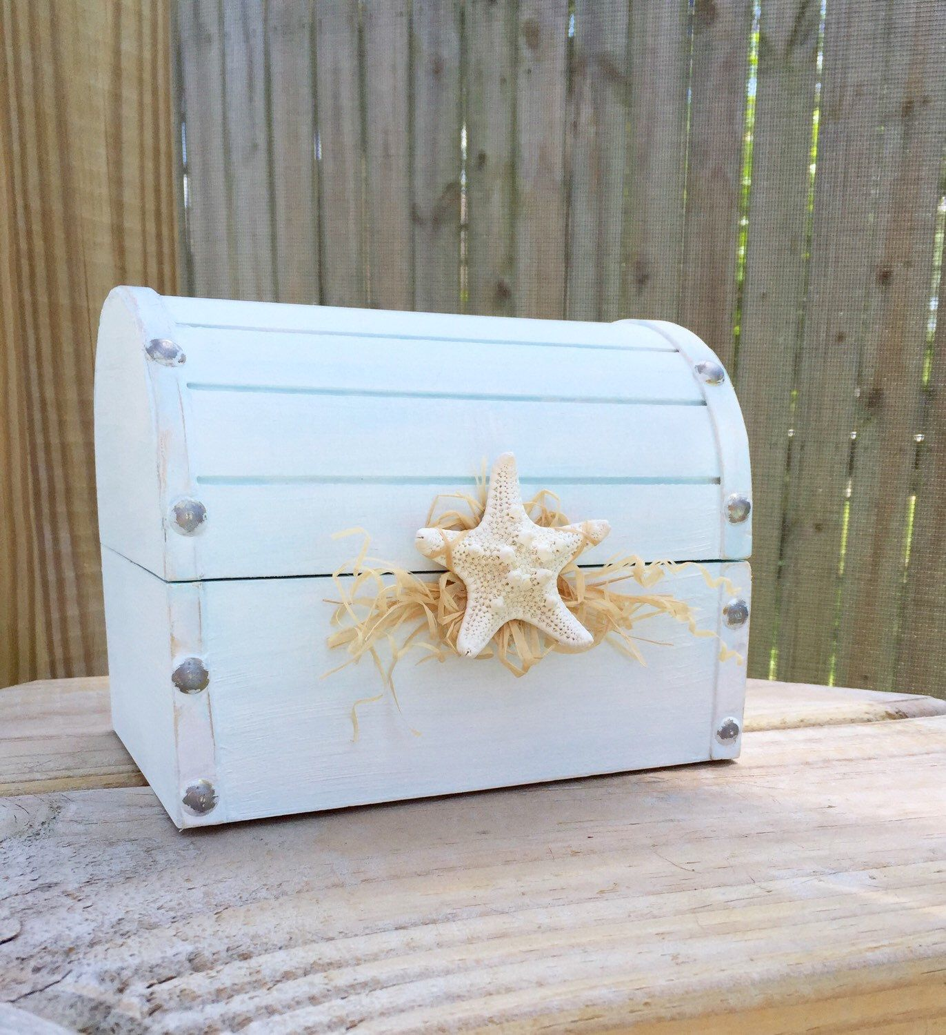A personal favorite from my Etsy shop https://www.etsy.com/listing/471857593/hand-painted-shabby-chic-beach-decor