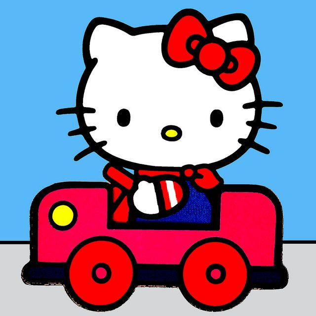 I Like Driving In My Car Hello kitty, Kitty and Sanrio - new apple app world map