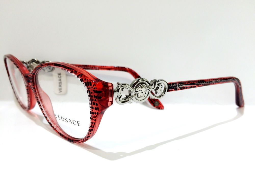 Authentic VERSACE Rx Eyeglass Frame VE MOD 3161 5001 NEW* 51mm ...