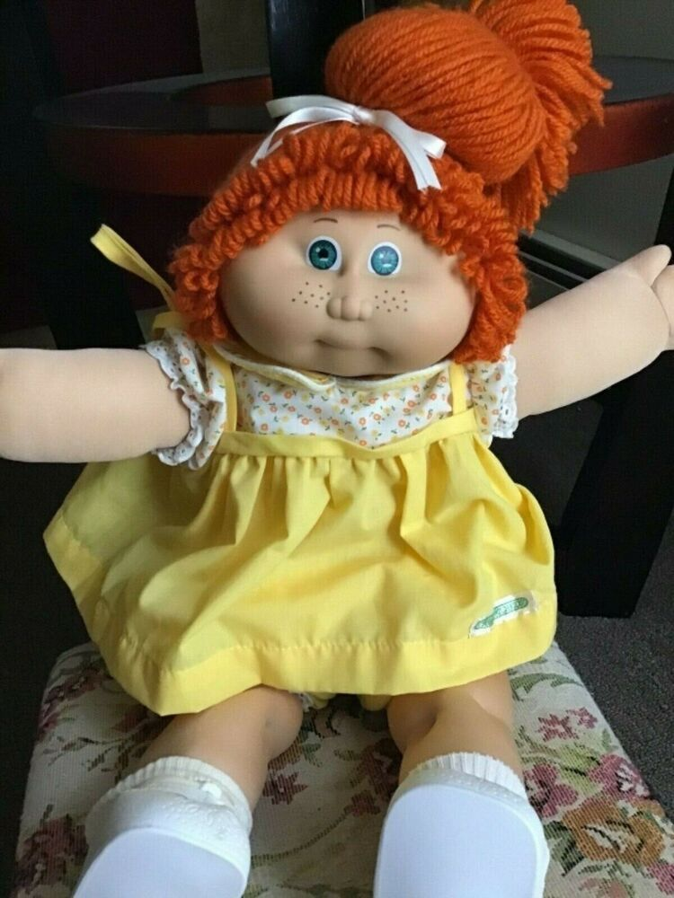 1984 Jesmar Cabbage Patch Kid Girl Great Condition Red Hair Freckles Cabbagepatchkids Cabbage Patch Kids Patch Kids Kids Girls