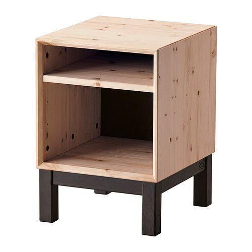 Bedside table NORNÄS Pine/grey Nightstands, Solid wood