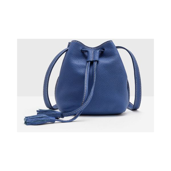 5cb8164ec2 Boden Mini Tassel Pouch Bag (96 NZD) ❤ liked on Polyvore featuring bags,  handbags, leather purses, leather handbags, blue handbags, mini leather  handbags ...