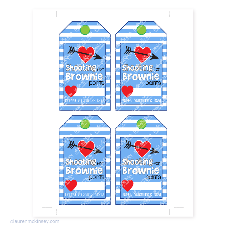 photo about Shooting for Brownie Points Free Printable named 5 for FridayThe Valentine Model Valentines working day box