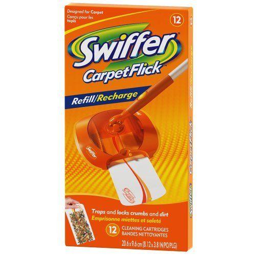 Swiffer Carpetflick Refill Pack 12 Ct Procter Gamble Http Www Amazon Com Dp B0013nhrqs Ref Cm Sw R Pi Dp C2p Tb0d4wg21 Swiffer Carpet Sweepers Cleaning