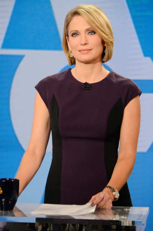 Good Morning America Host Amy Robach Apologizes For Saying Colored People On Air Amy Robach Coloured People Hair Styles