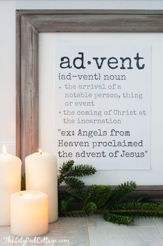 advent definition printable christmas gem tliche. Black Bedroom Furniture Sets. Home Design Ideas