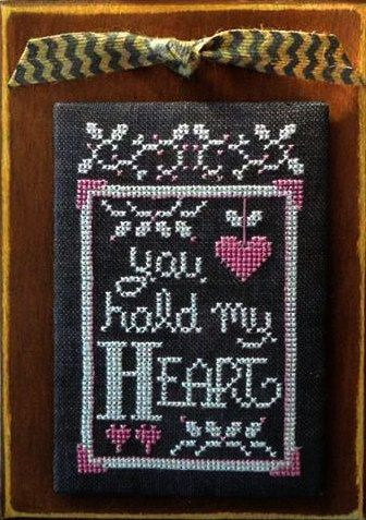 cross stitch patterns : February A Year In Chalk Hands On Design Valentine's Day love sweetheart chalkboard hand embroidery