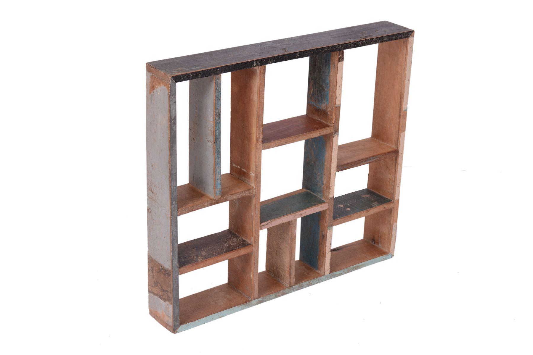 Estanter a de colgar mobiliario reciclado mueble de - Muebles de madera teca ...