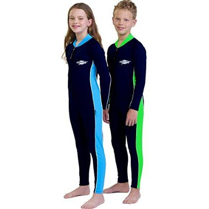 Kid's Stinger Suit, Long Sleeves, Long Leg's- UPF 50+ Sun Protection - Black/Royal - 10y