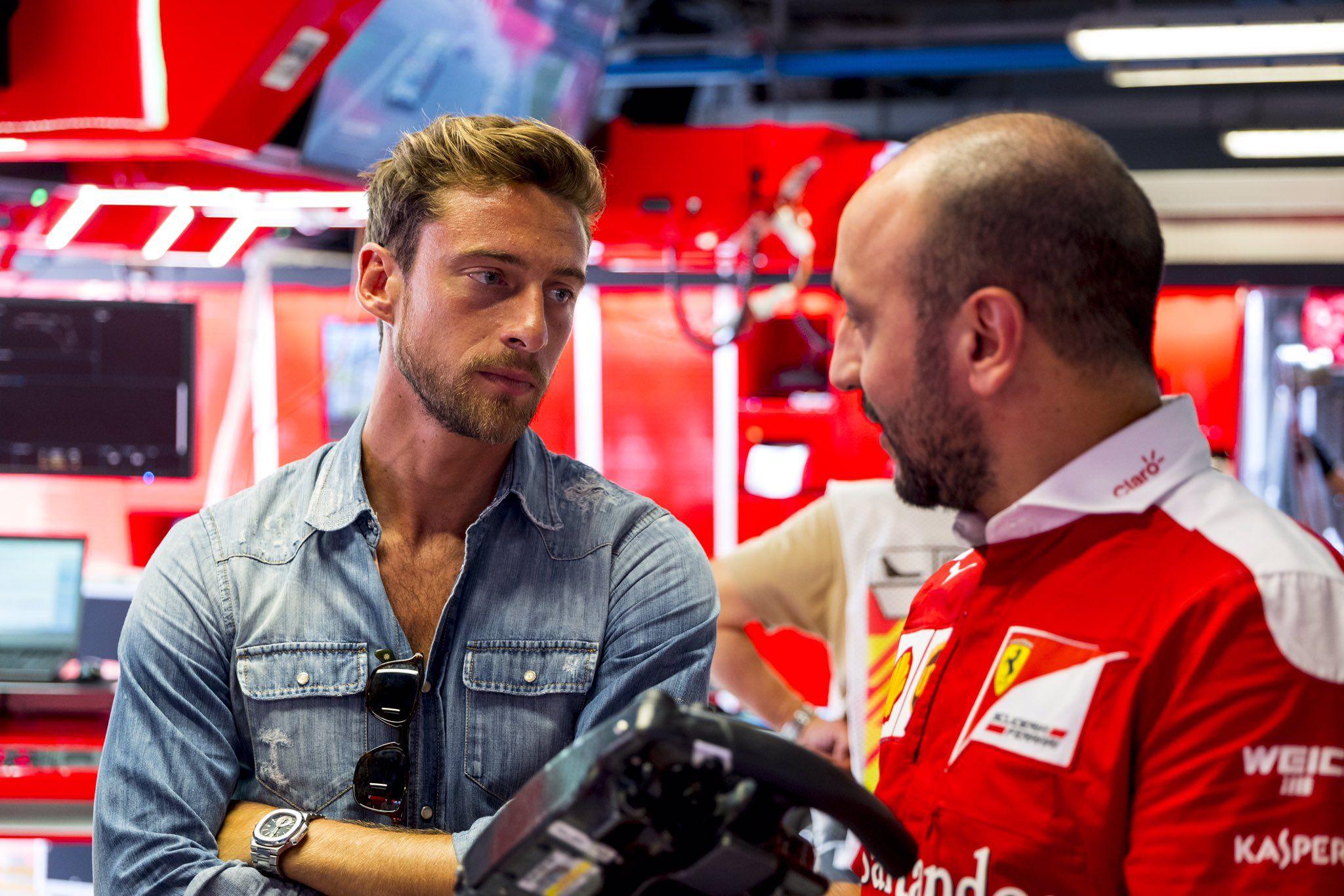 "Scuderia Ferrari on Twitter: "".@ClaMarchisio8 in our garage #ItalianGP #redseason https://t.co/Z8i8hARWnq"""