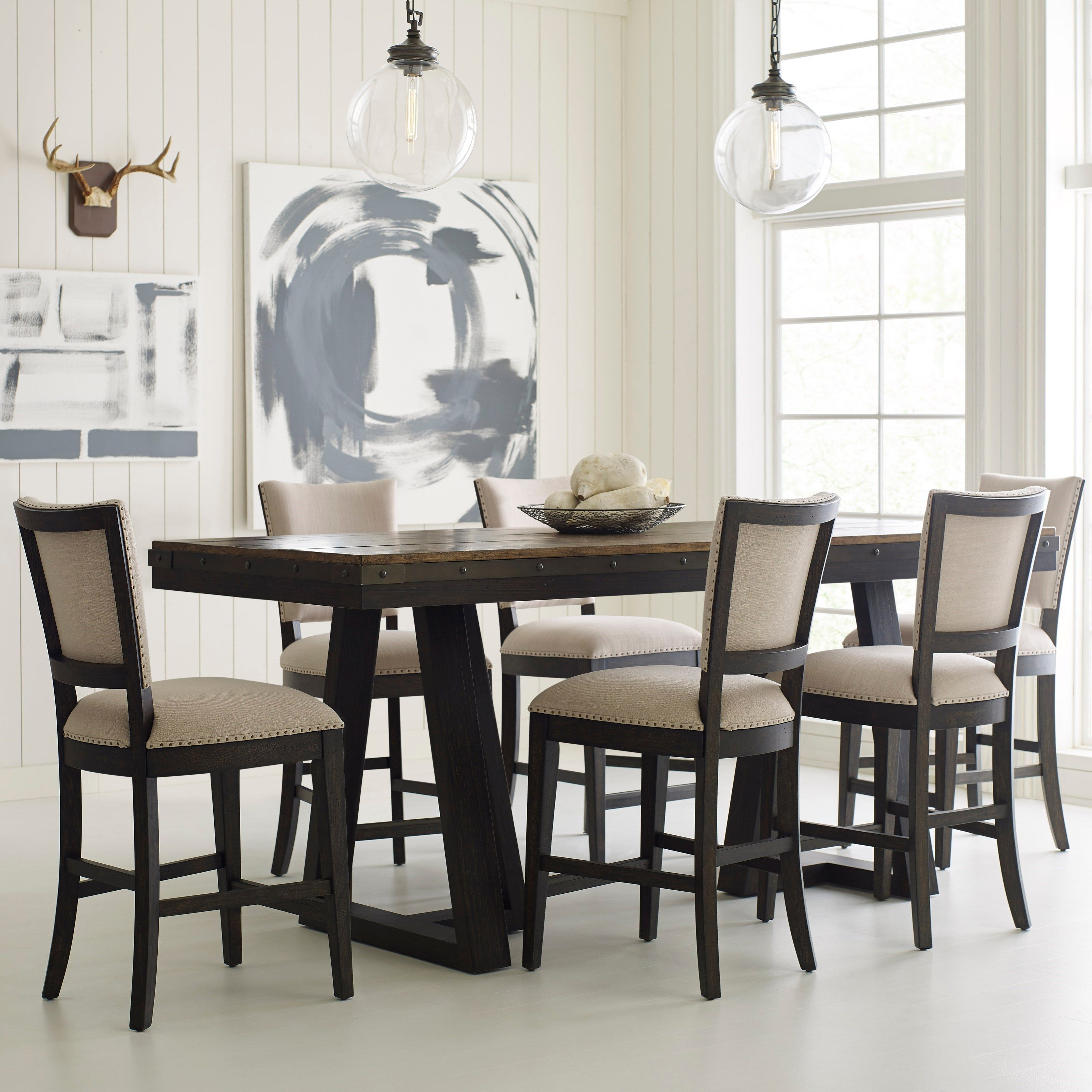 Plank Road 7 Pc Counter Height Dining Set by Kincaid Furniture