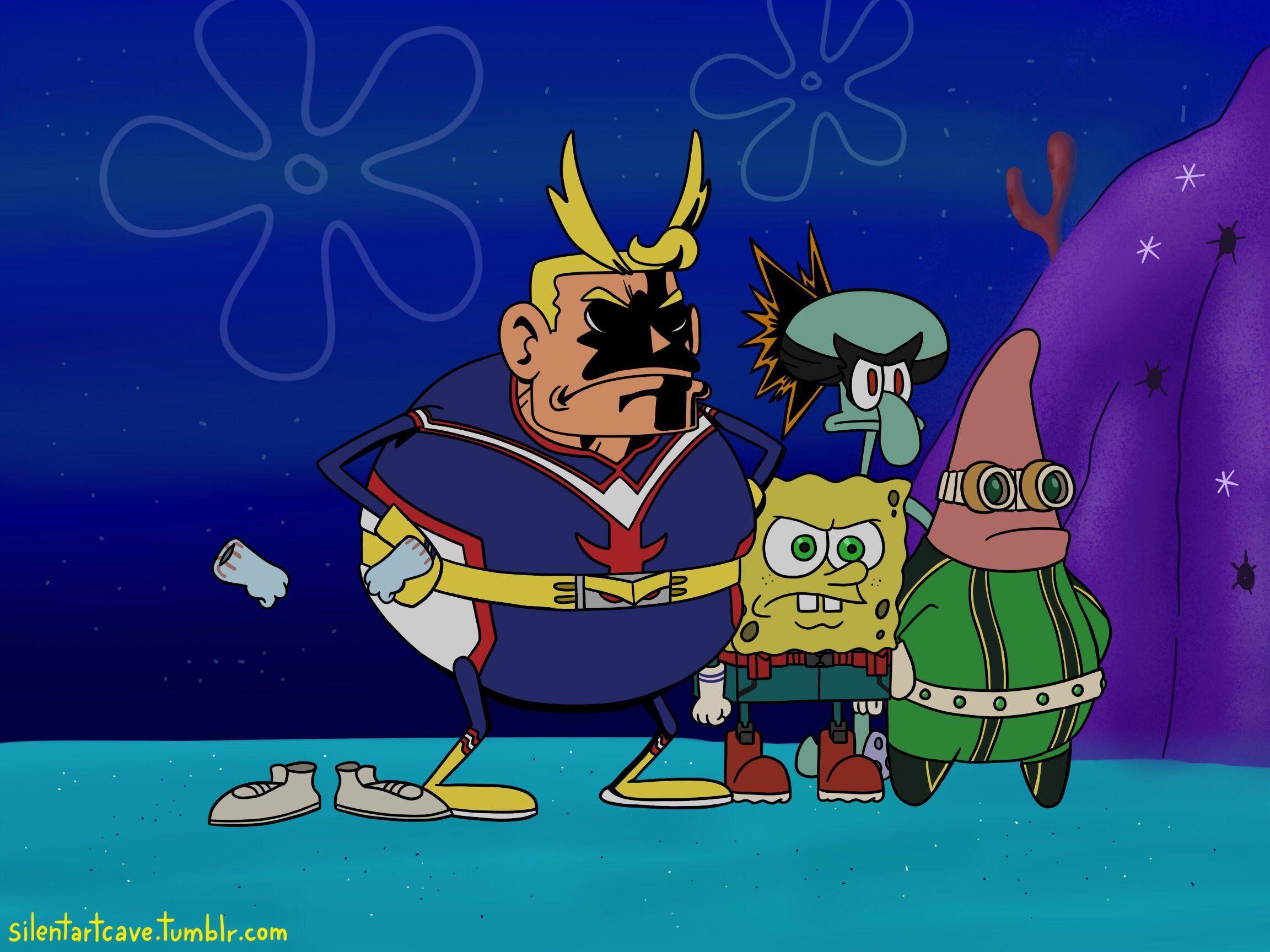 Spongebob x My Hero Hero meme, Hero