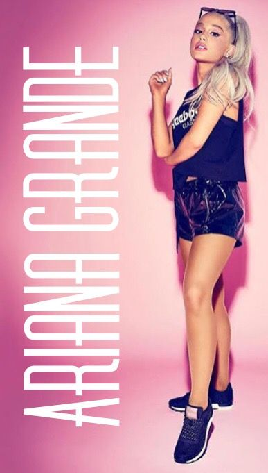 Big Ariana Grande pink Reebok wallpaper photo.:).
