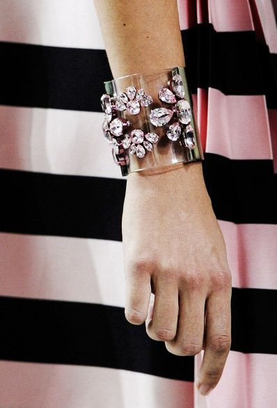 Cinderella Story |  Transparent Cuff Trend for Spring Summer 2013  Christian Dior Spring Summer 2013.    #bag #accessory #trends