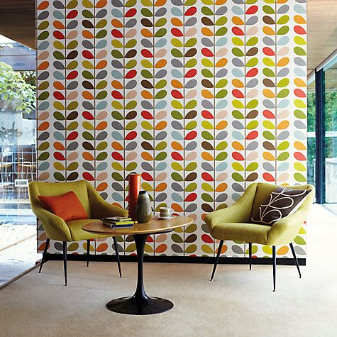 excellent funky wallpaper for house. Buy 110384 Orla Kiely House for Harlequin Multi Stem Wallpaper from our  range at John Lewis Style Chat Mid Century Retro Inspiration century