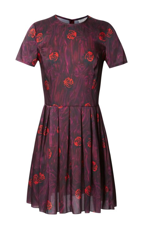 Shop Lizzy Floral Pleated Dress by Opening Ceremony Now Available on Moda Operandi